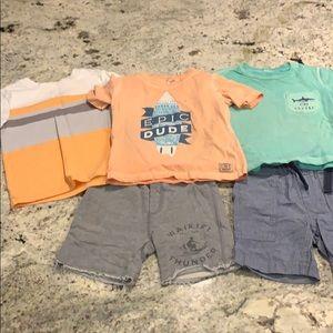 Boys shorts and t-shirt lot sz 4. OshKosh, J.Crew
